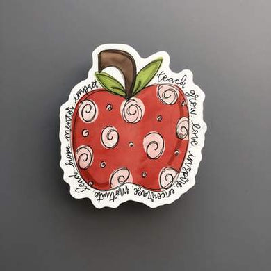 Doodles by Rebekah ~ Teacher Apple Sticker
