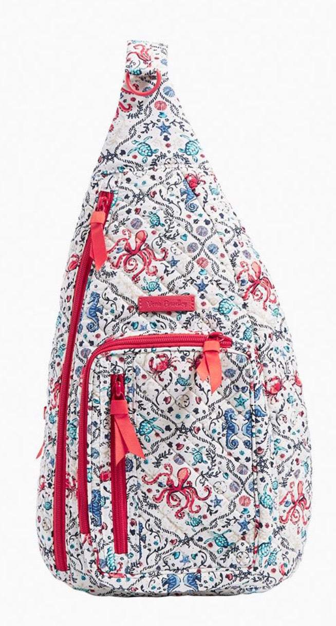 Vera Bradley ~ Iconic Sling Backpack Sea Life