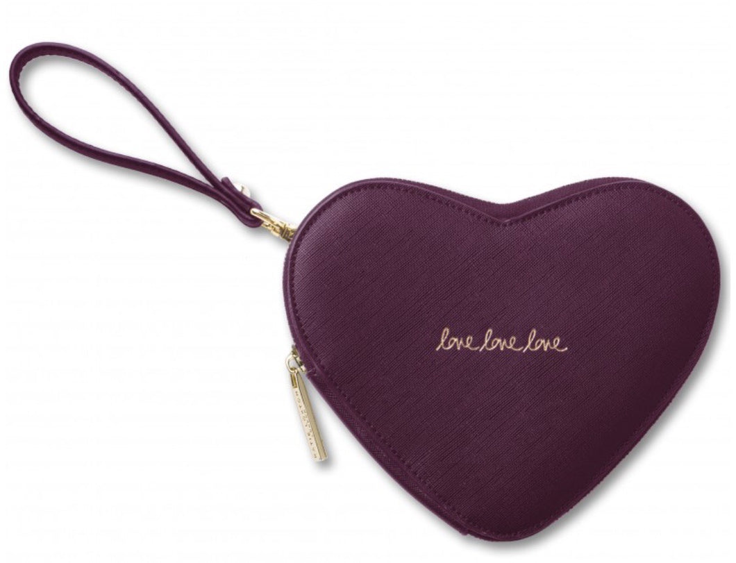 Katie Loxton Love Heart Shaped Pouch ~ Black