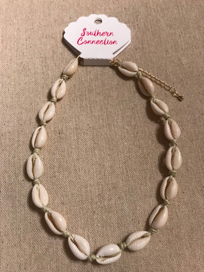 Southern Connection ~ Cowrie Shell Choker Necklace