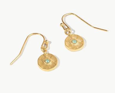 Spartina ~ Dot Drop Earrings Pacific Opal