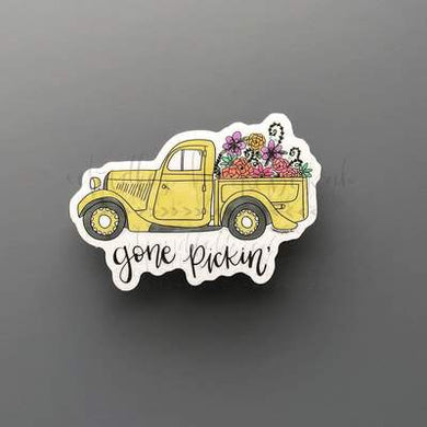 Doodles by Rebekah ~ Gone Pickin' Sticker