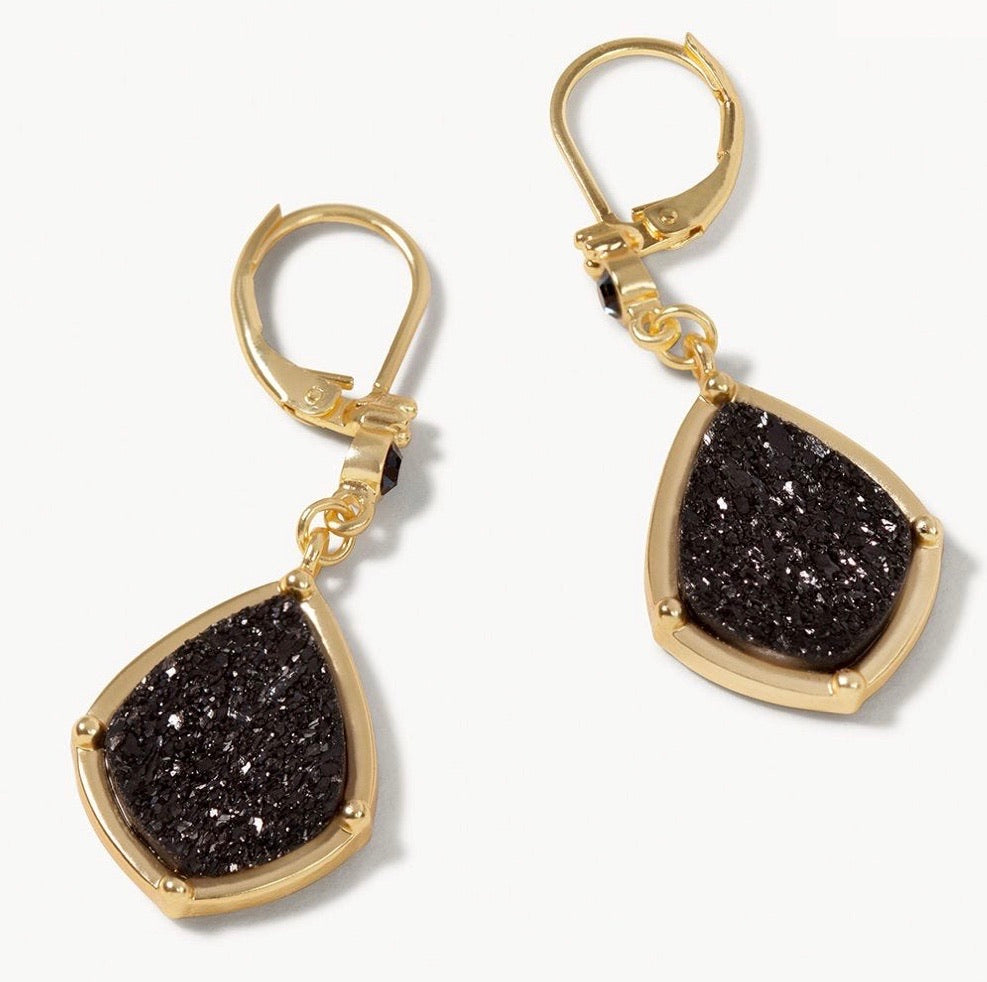Spartina ~ Druzy Drop Earrings Navy