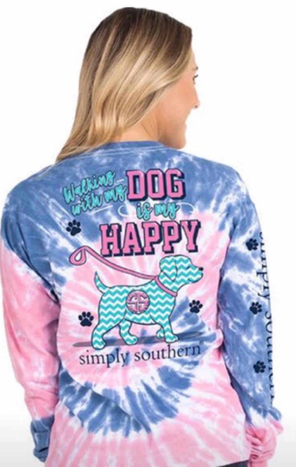 Simply Southern ~ Walking with my dog Tie Dye