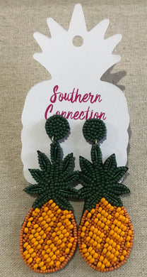 Southern Connection ~ Beaded Pineapple Earrings
