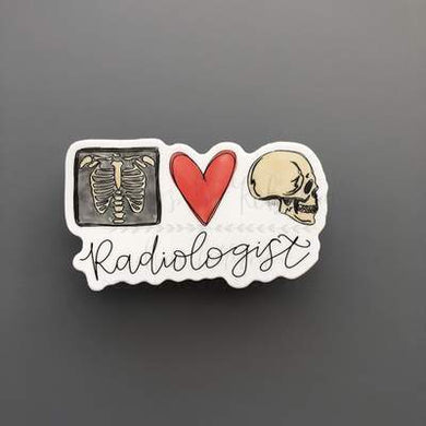 Doodles by Rebekah ~ Radiologist Sticker