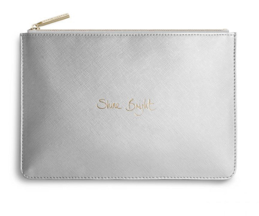 Katie Loxton ~ PERFECT POUCH | SHINE BRIGHT | METALLIC SILVER