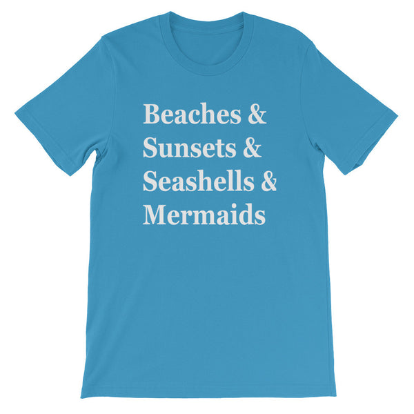 Beaches & Unisex short sleeve t-shirt