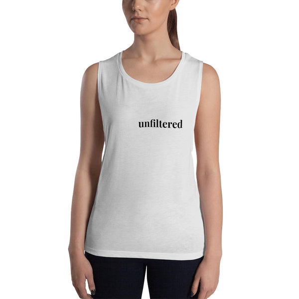 White Unfiltered Ladies' Muscle Tank