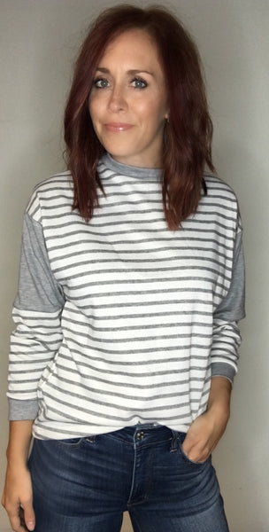 Lightweight Striped Basic Top