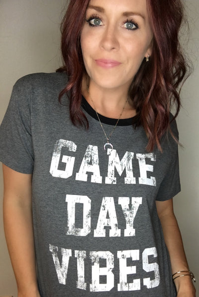 """Game Day Vibes"" Graphic Tee"