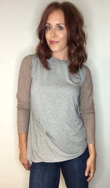 Two-toned Asymmetrical Top