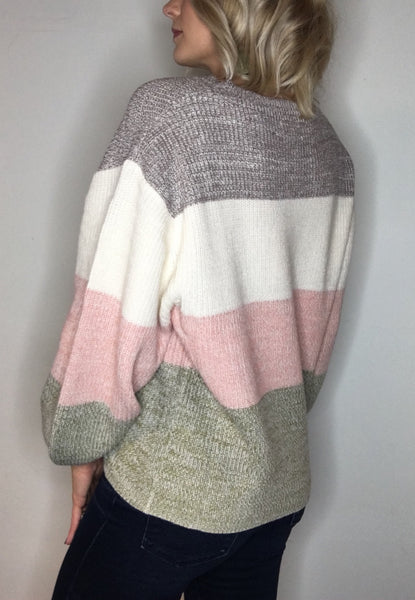 Soft Perfection Colorblock Sweater