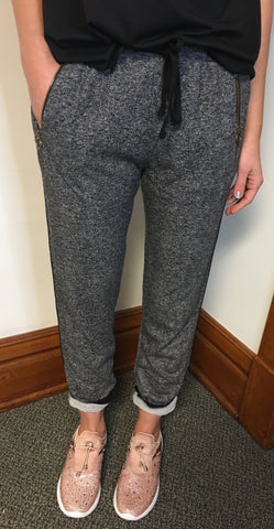 Jogger Pants with Zipper Pocket Detail