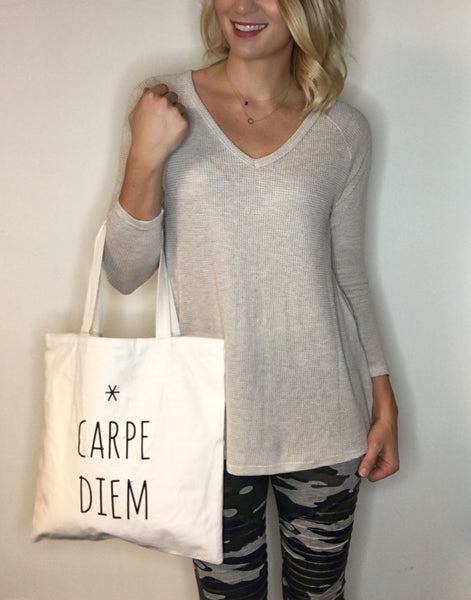 Tote of Top Knot - Carpe Diem