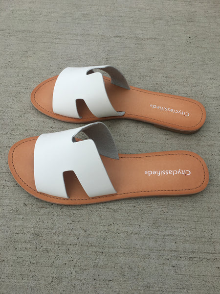 Greek Sandals - White
