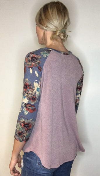 Floral Henley Top