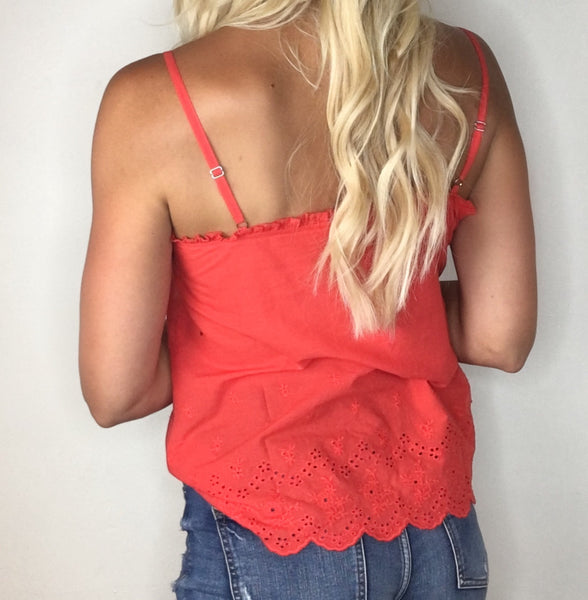Embroidered Sleeveless Blouse