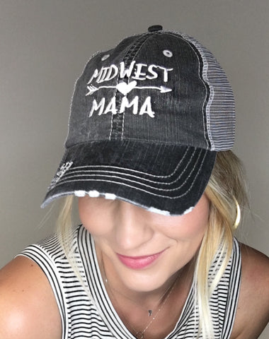 """Midwest Mama"" Mesh Hat"
