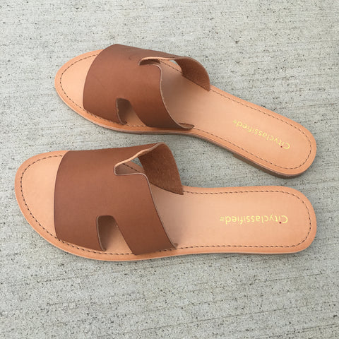 Greek Sandals - Tan