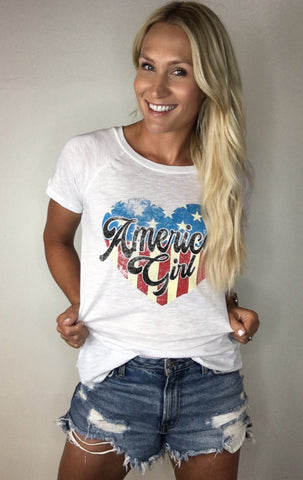 """American Girl"" Graphic Tee"