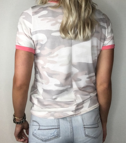 Solid Trim Camo Tee