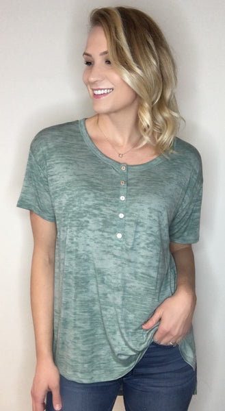 Burnout Henley Tunic Top