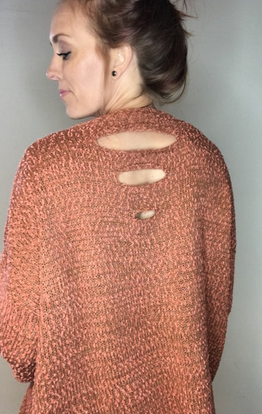 Uniquely Distressed Pullover Sweater