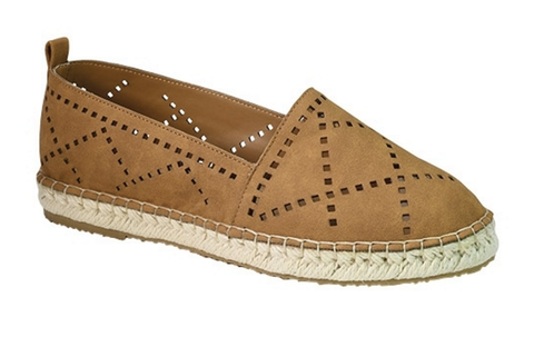 Perforated Espadrilles - Tan