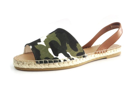 Slide-on Sandal - Green Camo