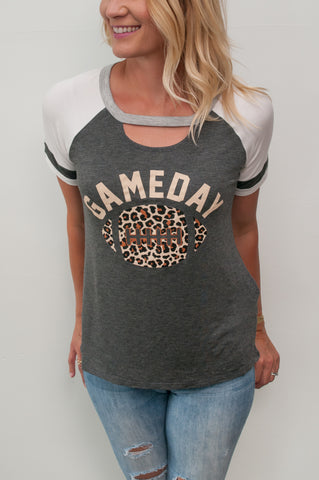 """Game Day"" Graphic Tee - Leopard"