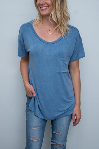 Washed Jersey Pocket Tee