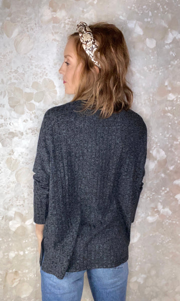 Slouchy Pocket Long Sleeve Top