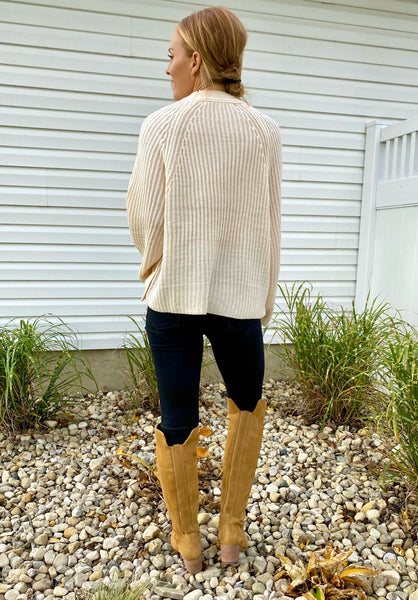 Button Detail Pullover Sweater