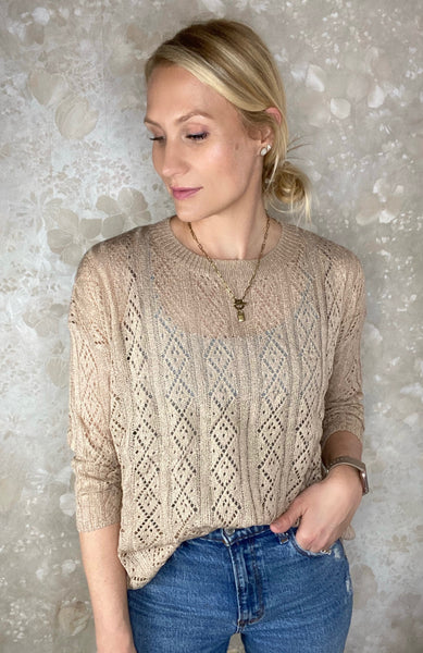 Open Knit Lightweight Pullover