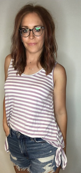Striped Tank with Side Ties