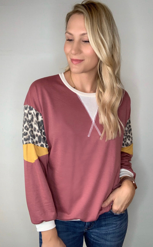 Colorblock Pullover Top
