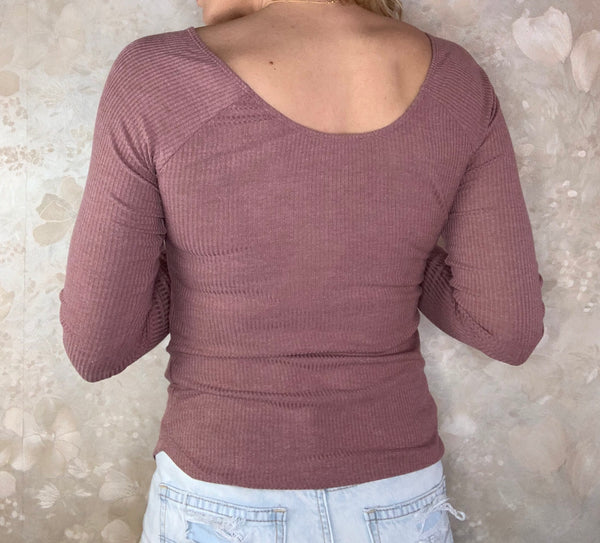 Essential Ribbed Top with Lace Detail
