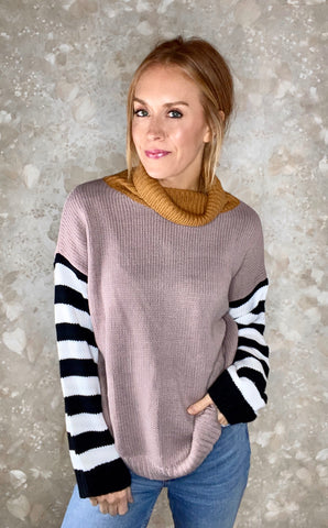 Colorblock Pullover Sweater