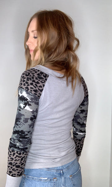 Thermal Printed Long Sleeve Top