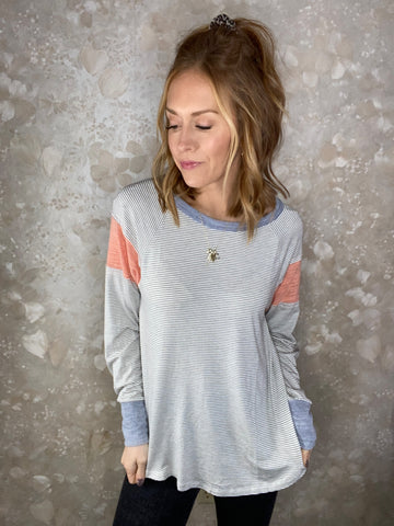 Colorblock Round Hem Tunic