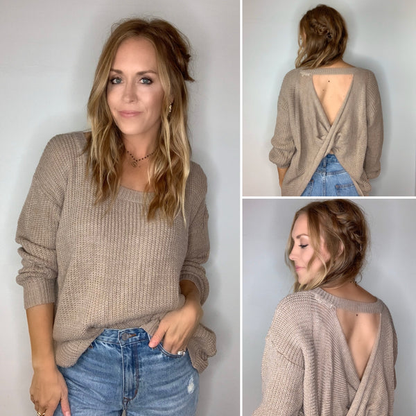 Open Back Sweater