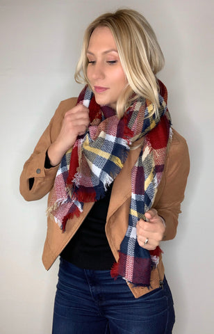 Jacket with Scarf Style Grab
