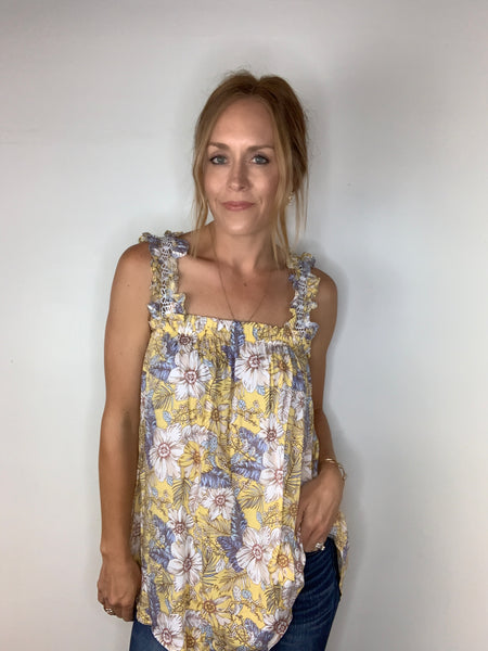 Floral Boho Sleeveless Blouse