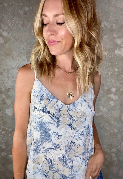 Marbled Print Cami