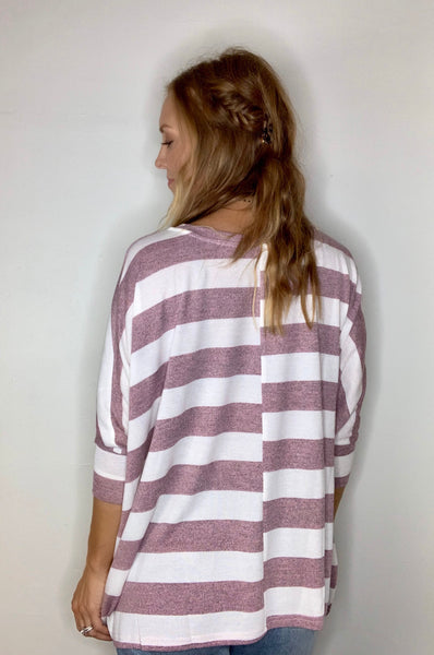 Rugby Striped Dolman Top