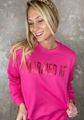 """Married AF"" Graphic Sweatshirt"