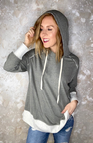 Contrast Tunic with Hood