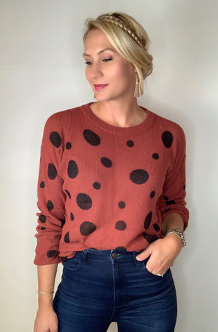 Polka Dot Lightweight Top