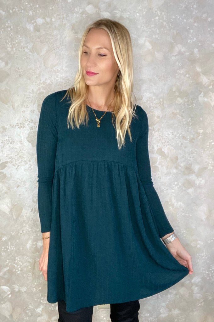 Fine Ribbed Knit Tunic